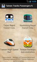 Screenshot of Taiwan Tracks Passengers Rank