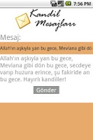 Screenshot of Kandil Mesajlari