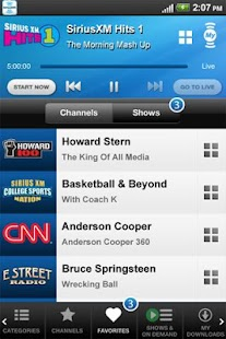 SiriusXM Internet Radio - screenshot thumbnail