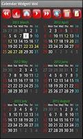 Screenshot of Calendar Widget! Wa!