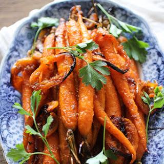 Harissa & Maple Glazed Roasted Carrots.