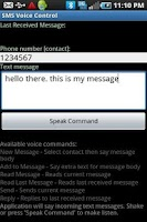 Screenshot of SMS Voice Control (Free)