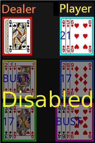 Blackjack demo:21 Poker Card