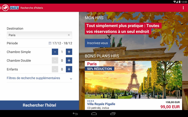 Recherche d 39 h tels hrs applications android sur google play for Recherche hotel