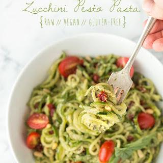 Zucchini Pesto Pasta (Raw, Vegan, Gluten-Free)