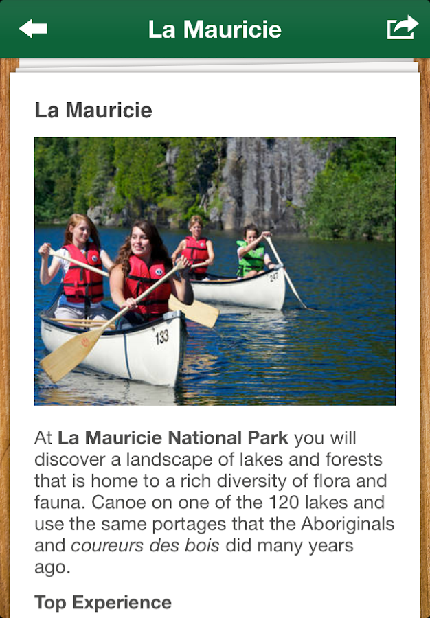 Parks Canada Learn to Camp - screenshot