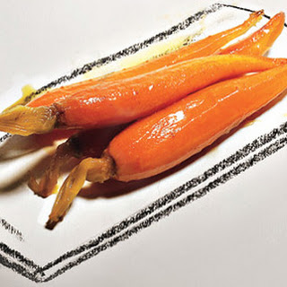 Baby Carrot Confit with Orange Juice and Cumin.