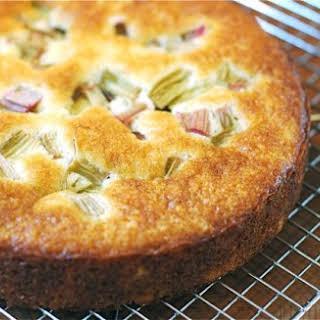 Rhubarb Yogurt Cake.