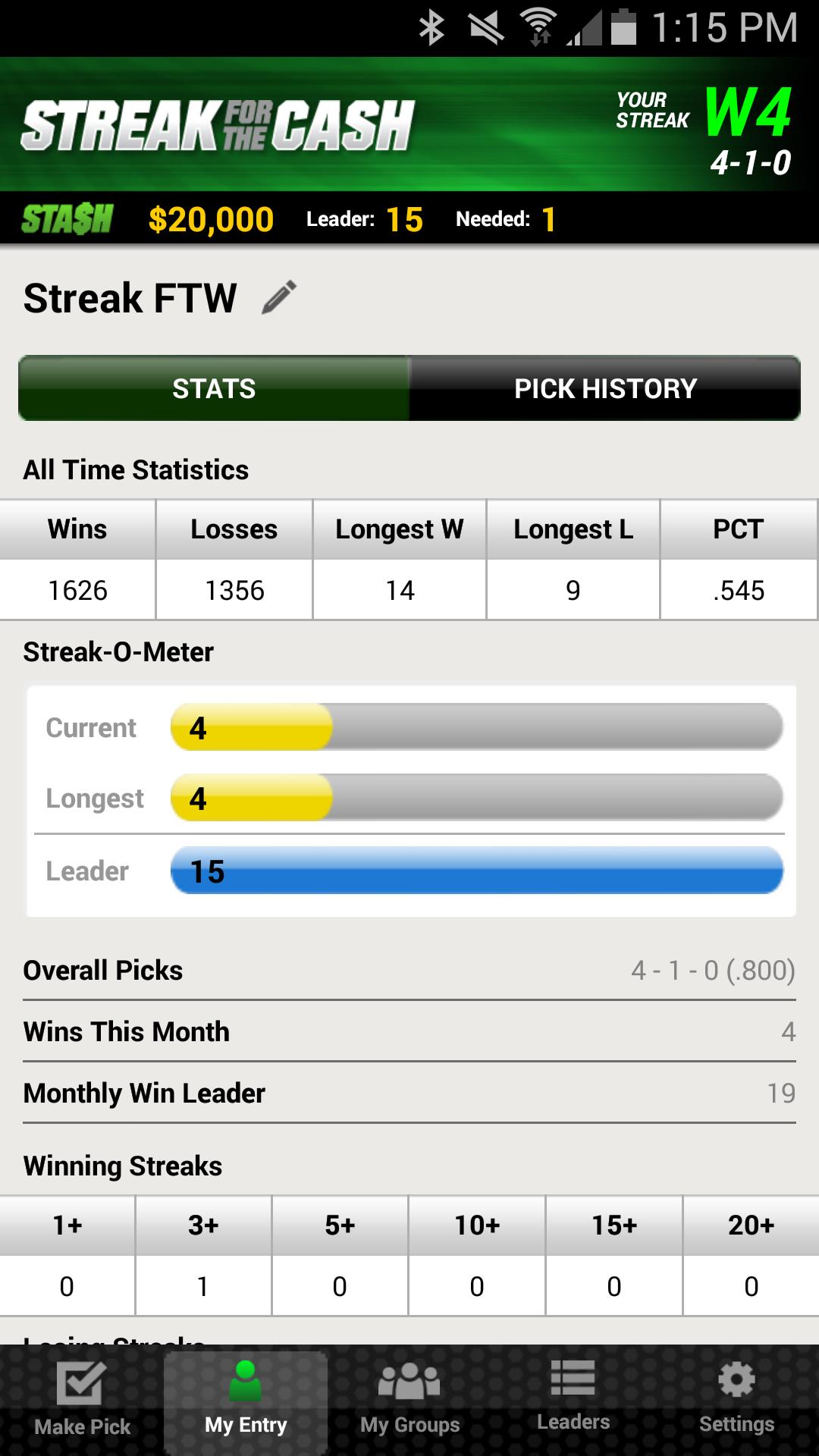 ESPN Streak For The Cash screenshot #3