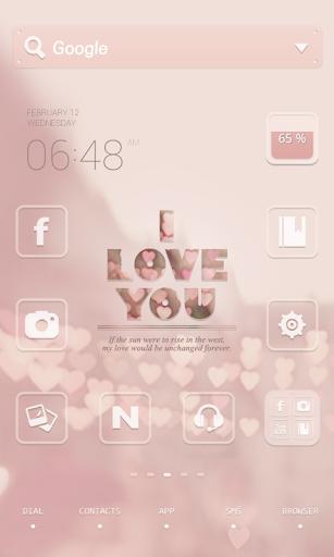 Love you dodol launcher theme