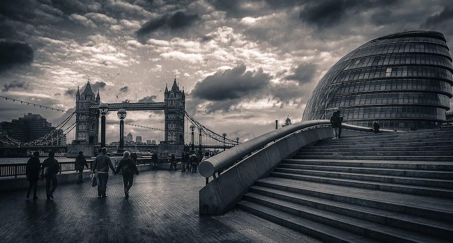 Tower Bridge and City Hall by Tracy Hughes - Buildings & Architecture Other Exteriors (  )
