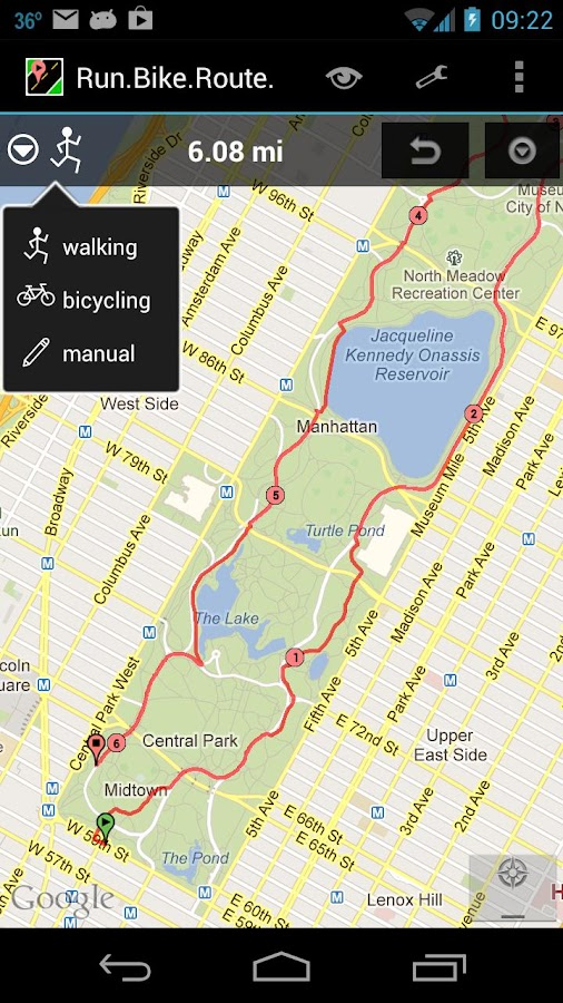 RunBikeRoute - screenshot