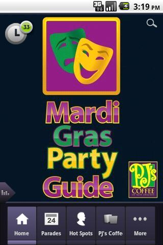 Mardi Gras Party-Parade Guide - screenshot