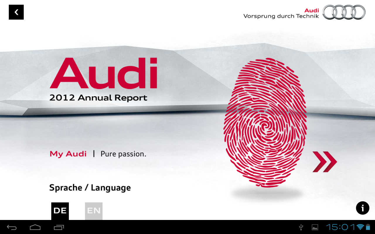 Audi 2012 Annual Report - screenshot