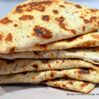 Crispy Naan Bread with Salmon Confit & Corn Medley
