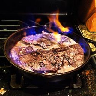 Brandied Pepper Steak