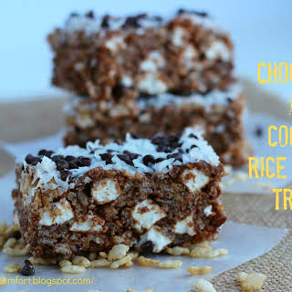 Chocolate and Coconut Rice Krispies Treats.