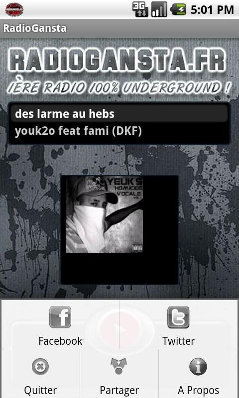 RadioGansta - screenshot