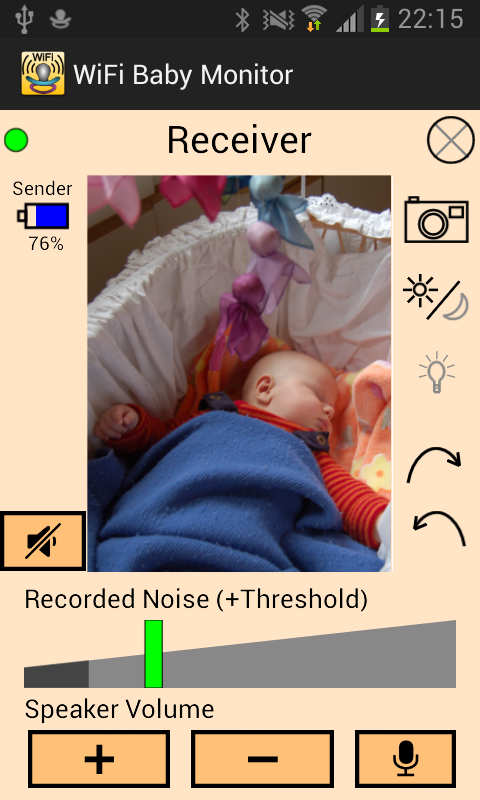 WiFi Baby Monitor - screenshot
