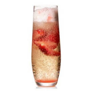 Strawberry Prosecco Floats.