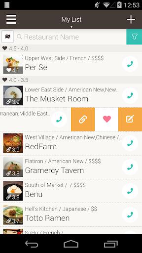 Restaurant Lists