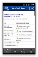 Screenshot of AutoCheck® Mobile for Business