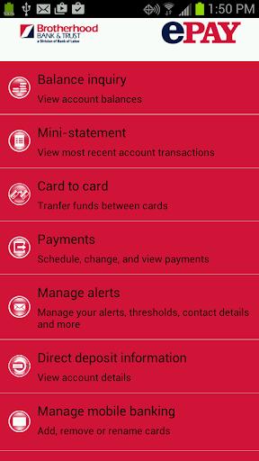 Brotherhood Bank EPay Mobile