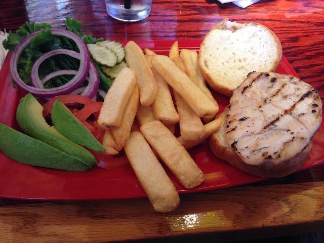 Keep it simple chicken sandwich on a gluten free bun