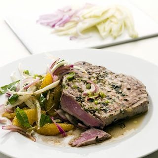 Marinated Tuna Steaks with Orange and Fennel Salad