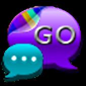 GO SMS Pro Purple Kush Theme
