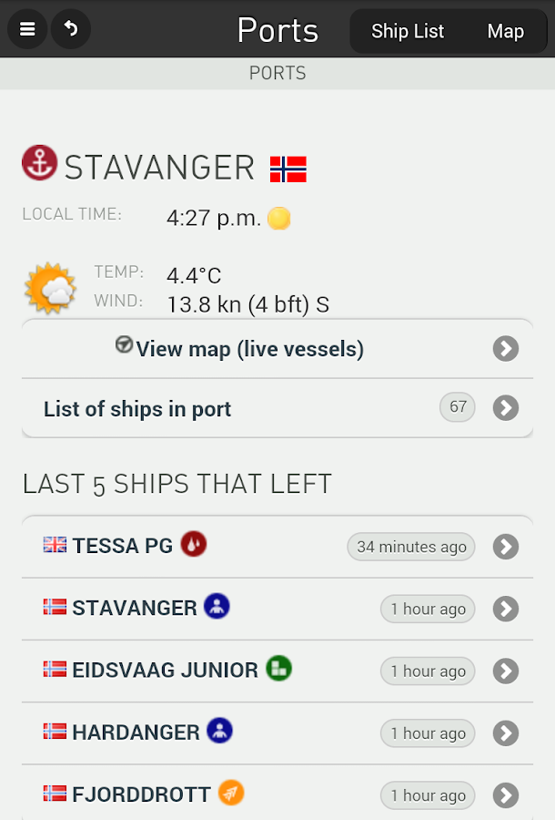 FleetMon mobile - live ships- screenshot