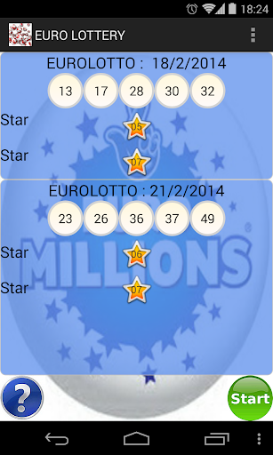 Euro Lottery scanner ticket