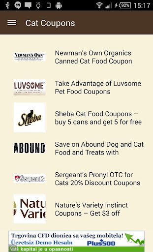 Cat Coupons
