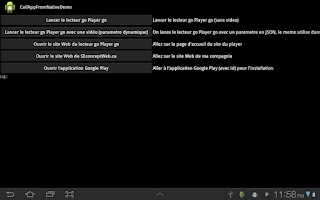 Screenshot of Call Application From Native D