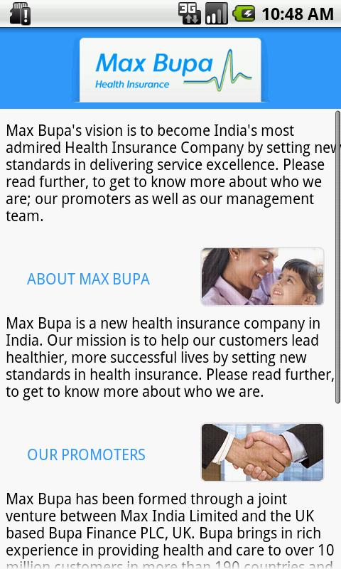 Max Bupa Premium Calculator - screenshot