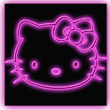 Kitty Black Go Launcher Theme