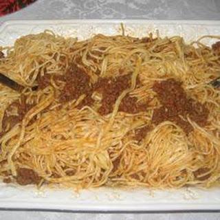 Beef Mushroom Spaghetti.
