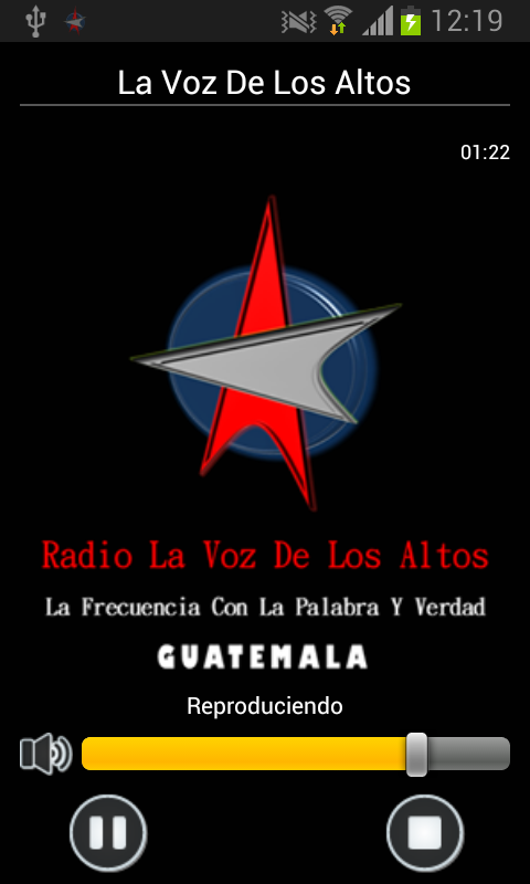 Radio La Voz De Los Altos: captura de pantalla