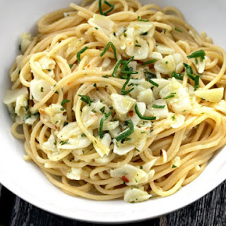 Alice Waters' Spaghetti with Green Garlic.