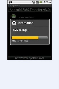 SMS Backup for Andriod- screenshot thumbnail