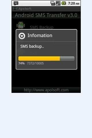 SMS Backup for Andriod - screenshot