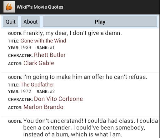 WikiP's Movie Quotes