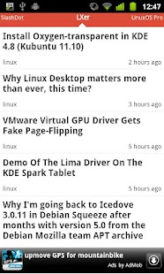 Linux News- screenshot thumbnail