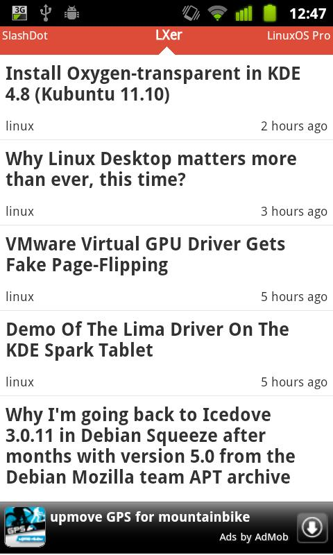 Linux News- screenshot