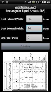 Rectangular Duct Traverse Tool- screenshot thumbnail