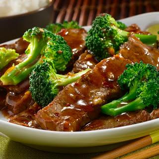 Ginger Beef & Broccoli.