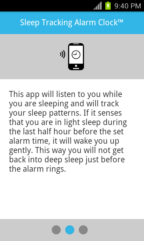 Sleep Tracking Alarm Clock - screenshot
