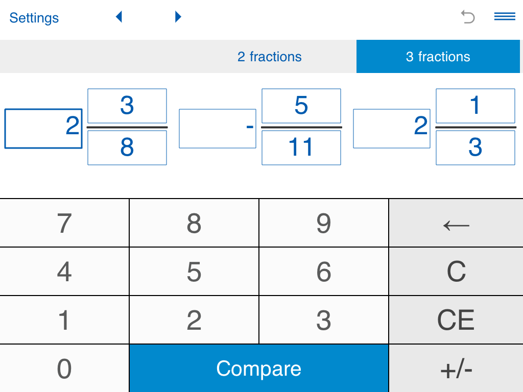 features comparing fractions calculator compares fractions including ...