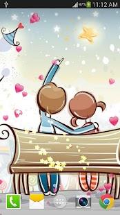 浪漫愛情動態桌布