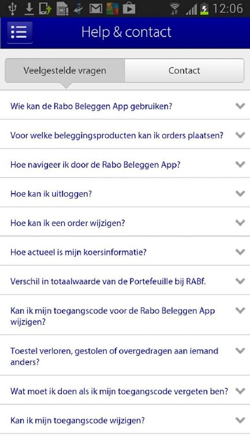 Rabo Beleggen - screenshot